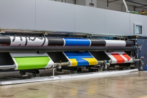 three large printing taking place on Commercial Large Format Printing