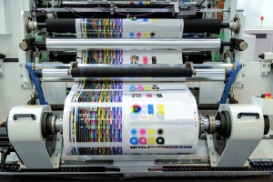 large Commercial Offset Printing machine at work