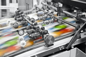 close up of Commercial Printing Services at work