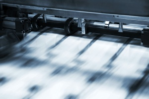 Commercial Offset Printing working at a fast pace