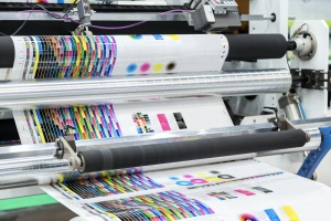 large offset printing belonging to Commercial Printing Services