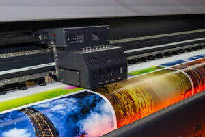 Large Printing Machine in Action