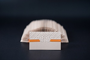 a greeting card that has received commercial embossing services