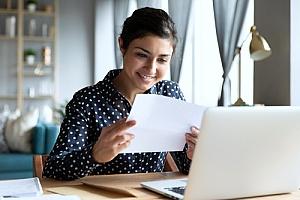 an employee receiving business mail from an organization