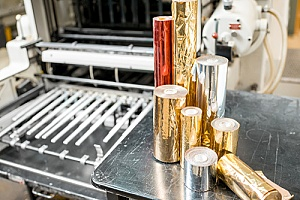 foil being used for commercial foil stamping services