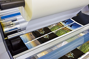 images and graphics being laminated