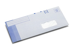 one of the custom business envelopes printed by a commercial printing company