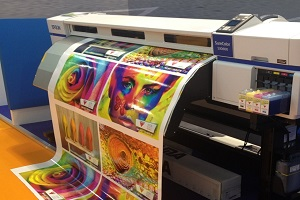 an inkjet printer that is being used for commercial printing
