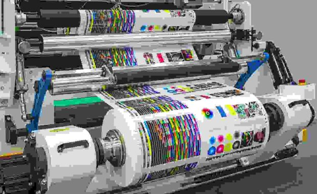 offset printing press or magazine running a long roll off paper