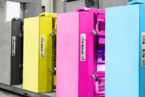 offset printing machines at work