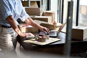 online store small business owner entrepreneur seller packing