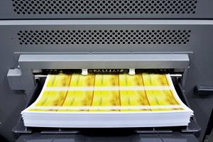 digital printing machine during production