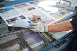 finishing commercial sign printing with post press
