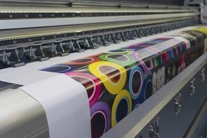 large format printer in operation
